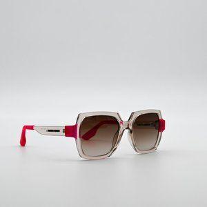 ALEXANDER MCQUEEN Transparent Square Sunglasses